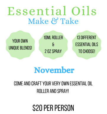 Essential Oil's Make & Take